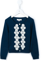 Charabia flower-embroidered cardigan