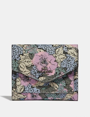 Coach Small Wallet With Heritage Floral Print