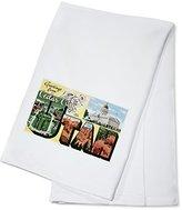 Greetings from Cedar City, Utah - Large Letters Vintage Postcard (100% Cotton Kitchen Towel)