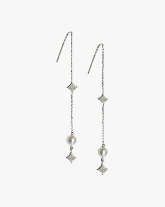 Jac + Jo Silver Pearl Gothic Threaders