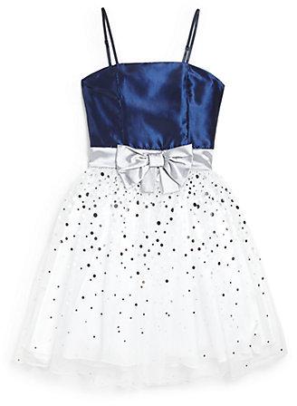 Un Deux Trois Girl's Polka Dot Bow Dress