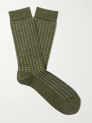 Sunspel Birdseye Cotton-Blend Socks