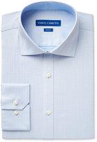 Vince Camuto Men's Slim-Fit Blue Houndstooth Dobby Dress Shirt