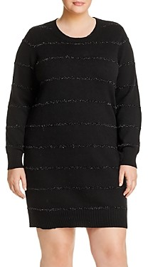MICHAEL Michael Kors Tinsel Metallic Stripe Dress