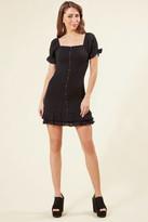 Lost + Wander Aria Smocked Mini Dress Black S