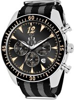Jivago Men's 'Timeless' Quartz Stainless Steel and Nylon Casual Watch, Color:Two Tone (Model: JV4513NBK)