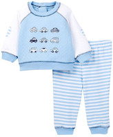 Little Me Cars Quilted Sweatshirt & Pant Set (Baby Boys)