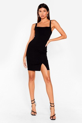 Nasty Gal Womens Slits That Easy Mini Dress - Black - 4