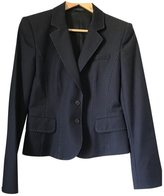 Strenesse Blue Wool Jacket for Women