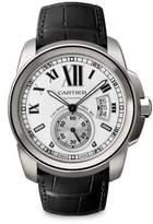 Cartier Calibre de Stainless Steel & Alligator Strap Watch