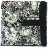 Roberto Cavalli printed frayed scarf - women - Cotton/Modal - One Size