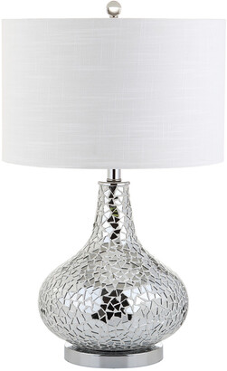 Jonathan Y Designs Emilia 26In Mirrored Mosaic Led Table Lamp