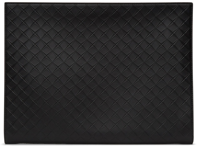 Bottega Veneta Black Intarsio Document Case