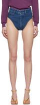 Y/Project Blue Denim Janties Shorts