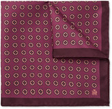 Dunhill - Medallion-print Mulberry Silk-twill Pocket Square