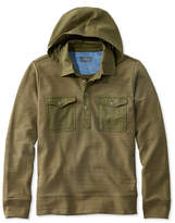 L.L. Bean Signature Hooded Henley Sweatshirt, Long Sleeve