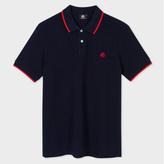 Paul Smith Men's Navy PS Logo Organic-Cotton Polo Shirt