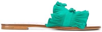 Lanvin Pleated Flat Sandals
