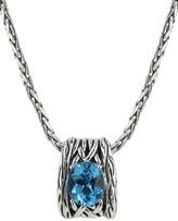 Effy Jewelry Effy 925 Lagoon Sterling Silver Blue Topaz Pendant, 5.70 TCW