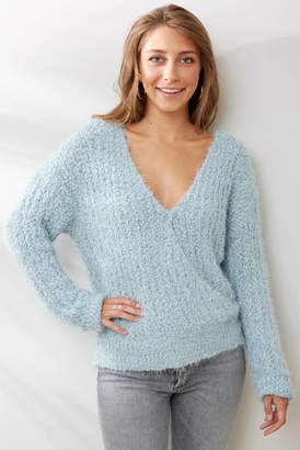 Lynk Knyt & Surplice Pullover Blue XS