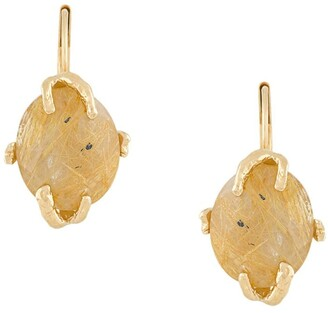 Wouters & Hendrix Rutilated Quartz drop earrings