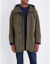Armani Jeans Khaki Lightweight Shell Parka Coat