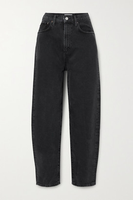 AGOLDE Balloon High-rise Tapered Jeans - Black
