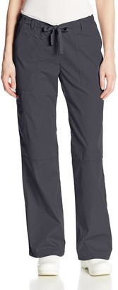 Cherokee Women's Workwear Scrubs Low Rise Draw String Cargo Pant (Size 2X-5X)