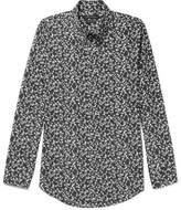 Marc Jacobs Button-down Collar Printed Cotton Shirt - Black