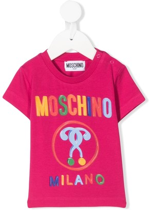 MOSCHINO BAMBINO multicoloured logo print T-shirt