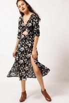 Azalea Floral L/S Cut Out Dress