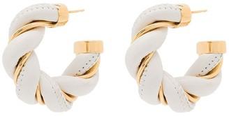 Bottega Veneta Twist-Hoop Bar-Pin Earrings