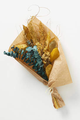 Anthropologie Dried Ochre and Eucalyptus Bouquet