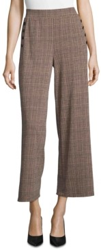 John Paul Richard Plaid Pull-On Pants