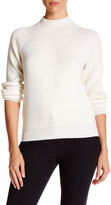 Theory Mock Neck Ribbed Wool Sweater