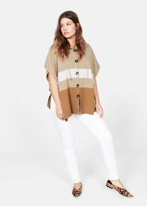 MANGO Buttoned knit poncho