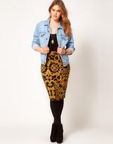 Asos Pencil Skirt in Baroque Chain Print