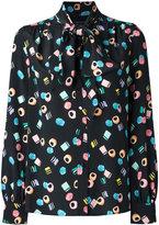 Marc Jacobs Licorice tie-neck blouse