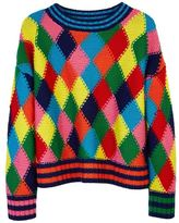 Mira Mikati Diamond Stitch Hand Knit Sweater Multi