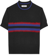 Tim Coppens Signal Striped Merino Wool Sweater - Black