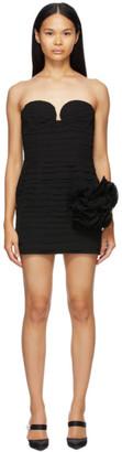 Magda Butrym Black Silk Bustier Dress