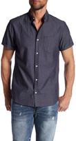 Public Opinion Short Sleeve Geometric Regular Fit Woven Shirt