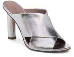 Diane von Furstenberg Emilyn Metallic Leather Mules