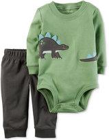 Carter's 2-Pc. Cotton Dinosaur Bodysuit and Pants Set, Baby Boys (0-24 months)