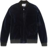 A.p.c. - Louis W Cotton-velvet Bomber Jacket