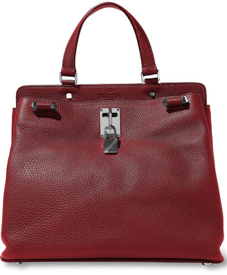 Valentino Joylock Textured-leather Tote