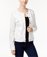 INC International Concepts Petite Frayed Trucker Jacket, Only at Macy's