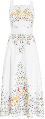 Zimmermann Carnaby Embroidered Bird Dress