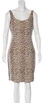 Diane von Furstenberg Cheetah Print Bodycon Dress