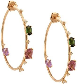 Mattia Cielo 18kt rose gold Rugiada collection rainbow hoops